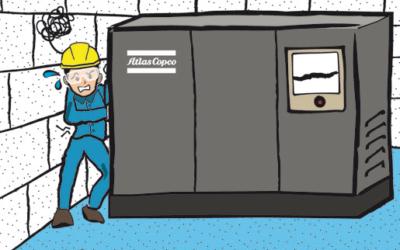 Instalación de un compresor separado de la pared para su correcta refrigeración