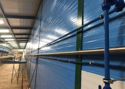 Instalación neumática con tubería de Aluminio