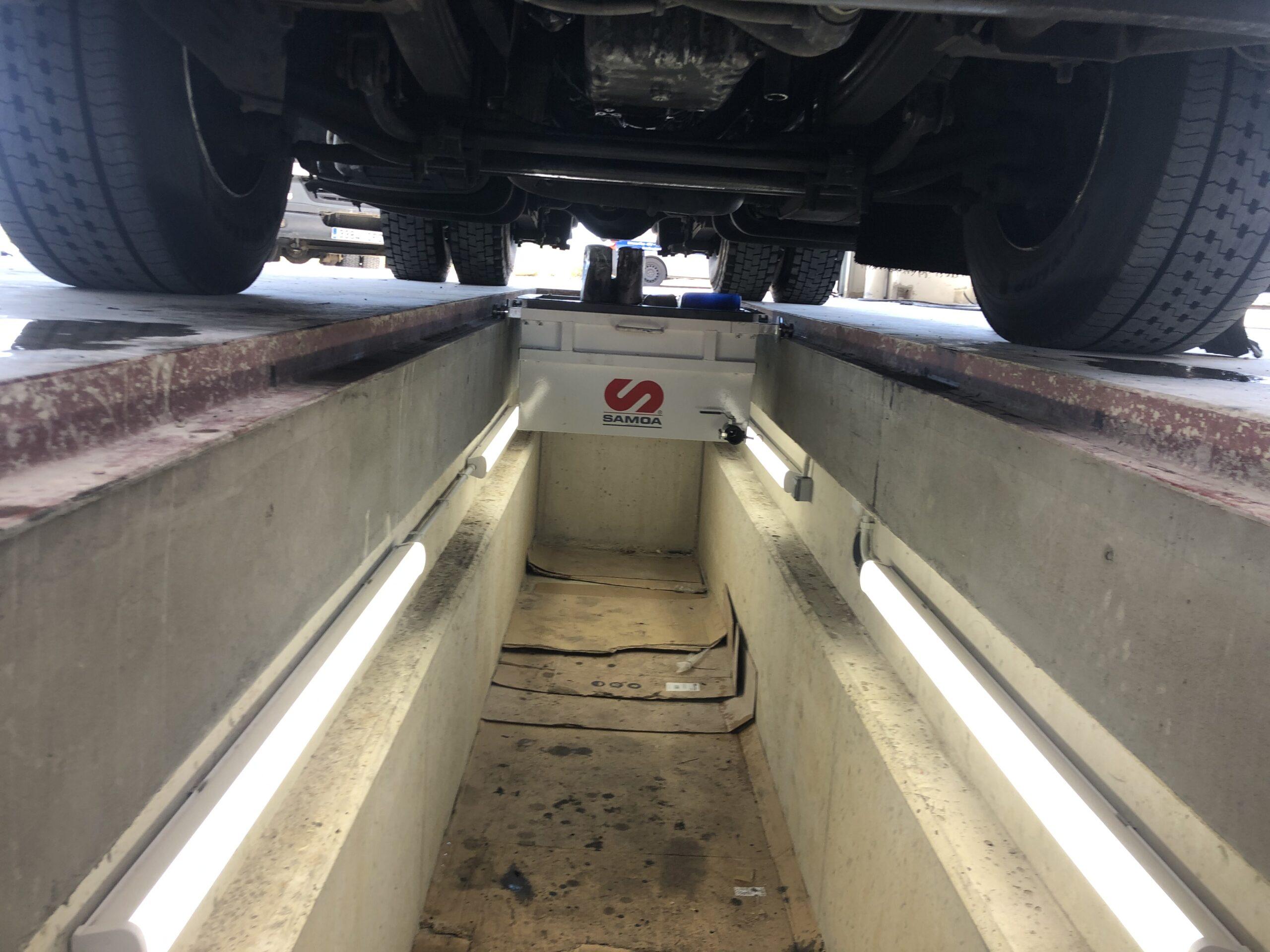 Foso de inspección vehículos